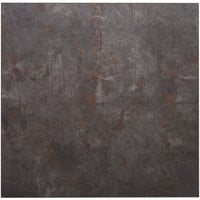 BFM Seating RC3030 Relic Rustic Copper 30 inch x 30 inch Square Melamine Table Top with Matching Edge