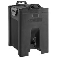 CaterGator 10 Gallon Black Insulated Beverage Dispenser