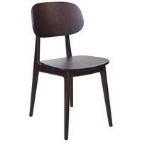 BFM Seating ZWC22DW-DW Emma Dark Walnut Side Chair