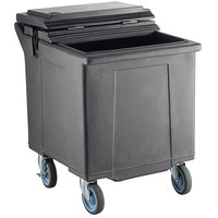 CaterGator 125 lb. Capacity Gray Mobile Ice Caddy with Flip Lid