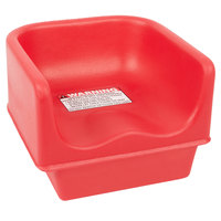Cambro 100BC158 Hot Red Plastic Booster Seat - Single Height