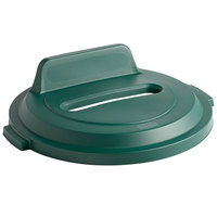 Rubbermaid 2018168 BRUTE 32 Gallon Green Recycling Bin Lid with Paper Slot and Vertical Billboard