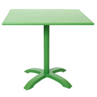 BFM Seating PHB2432LM-2626LM Beachcomber-Bali 24 inch x 32 inch Lime Powder Coated Aluminum Dining Height Outdoor / Indoor Table