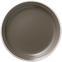 World Tableware ENG-1-O Englewood 6 1/2 inch Matte Olive Porcelain Plate   - 36/Case