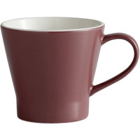 World Tableware ENG-12-M Englewood 10.75 oz. Matte Mulberry Porcelain Mug - 36/Case