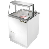 True TDC-27 27 inch Straight Glass Ice Cream Dipping Cabinet