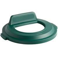 Rubbermaid 2017964 BRUTE 32 Gallon Green Recycling Bin Lid with Open Top and Vertical Billboard
