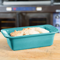 Homer Laughlin 813107 Fiesta Turquoise 5 3/4 inch x 10 3/4 inch x 3 inch Loaf Pan - 3/Case