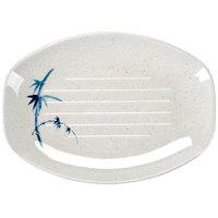 Blue Bamboo 8 inch x 5 3/4 inch Oval Melamine Teriyaki Tray - 12/Case