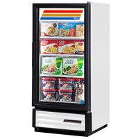 True GDM-10F-LD White Glass Door Merchandiser Freezer with LED Lighting