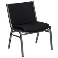 Flash Furniture XU-60555-BK-GG Hercules Big & Tall Black 1000 lb. Rated Fabric Stack Chair