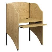 Flash Furniture MT-M6201-OAK-GG Oak Study Carrel