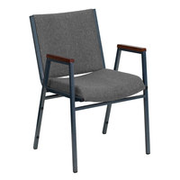 Flash Furniture XU-60154-GY-GG Hercules Heavy Duty Gray Fabric Stack Chair with Arms