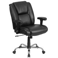 Flash Furniture GO-2132-LEA-GG Hercules Big & Tall Black Mid-Back Office Chair