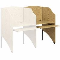 Flash Furniture MT-M6202-OAK-ADD-GG Oak Add-On Study Carrel