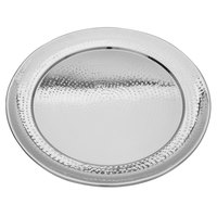 Walco VMR20 Ironstone 20 inch Stainless Steel Round Serving Tray