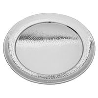 Walco VMR18 Ironstone 18 inch Stainless Steel Round Serving Tray