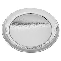 Walco VMR22 Ironstone 22 inch Stainless Steel Round Serving Tray