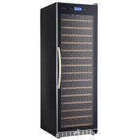 Eurodib USF168SE Single Section 165-Bottle Single Temperature Black Full Glass Door Wine Refrigerator