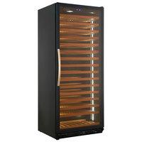 Eurodib USF328S Single Section 272-Bottle Single Temperature Black Full Glass Door Wine Refrigerator