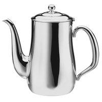 Walco CX515B Satin Soprano 12 oz. Brushed Stainless Steel Gooseneck Coffee Pot
