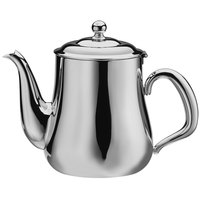 Walco CX520B Satin Soprano 12 oz. Brushed Stainless Steel Gooseneck Tea Pot