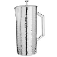 Walco VCS60 Ironstone 64 oz. Hammered Mirror Finish Stainless Steel Beverage Server