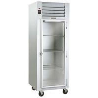 Traulsen G11010 Glass Door Reach In Refrigerator - Right Hinged Door