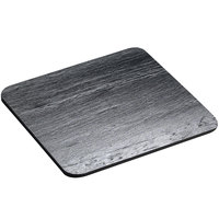 Cal-Mil 1522-1212-65 12 inch Black Square Slate Serving / Display Stone