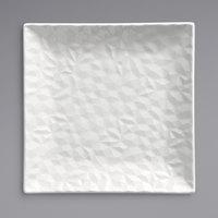 Syracuse China 988001136 Status 8 1/2 inch Royal Rideau White Porcelain Square Plate - 24/Case