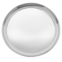 Walco 9-222 Soprano 13 inch Stainless Steel Round Serving Tray - 10/Case