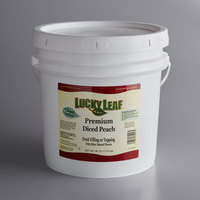 Lucky Leaf Premium Diced Peach Fruit Filling & Topping - 38 lb. Pail