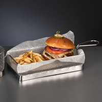 World Tableware FB-16 10 3/4 inch x 5 5/8 inch x 2 inch Square Stainless Steel Fry Presentation Basket
