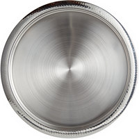 World Tableware BT-6127 Sonoran 15 3/4 inch Round Hammered Rim Stainless Steel Serving Tray