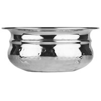 World Tableware PBB-5 Sonoran 14 oz. Hammered Stainless Steel Pot Belly Bowl
