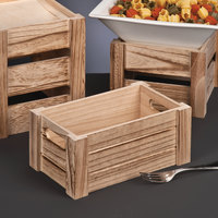 World Tableware CRW-16 Country Wood 6 1/4 inch x 10 1/4 inch x 6 1/4 inch Rectangular Riser Crate