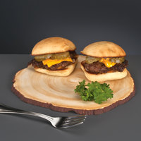 World Tableware FWS-15 8 1/2 inch Faux Wood Slice Porcelain Serving Board