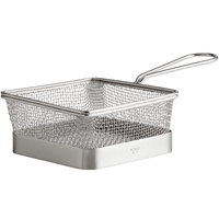 World Tableware FB-17 5 inch x 5 inch x 2 1/4 inch Square Stainless Steel Fry Presentation Basket