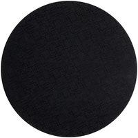 World Tableware BTM-6125 Sonoran 11 1/2 inch Black Round Mat