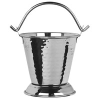World Tableware PWH-13 Sonoran 13 oz. Hammered Stainless Steel Pail