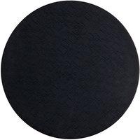 World Tableware BTM-6127 Sonoran 13 inch Black Round Mat