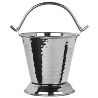World Tableware PWH-15 Sonoran 15.5 oz. Hammered Stainless Steel Pail