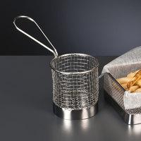 World Tableware FB-15 3 1/2 inch Round Stainless Steel Fry Presentation Basket