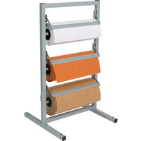 Bulman T368R-12 12 inch Three Deck Tower Paper Rack with Straight Edge Blade