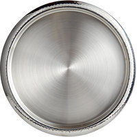 World Tableware BT-6125 Sonoran 13 3/4 inch Round Hammered Rim Stainless Steel Serving Tray
