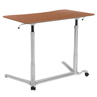 Flash Furniture NAN-IP-6-1-CH-GG 37 3/8 inch x 20 1/2 inch Cherry Adjustable Height Computer Desk