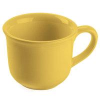 Tuxton Concentrix CSF-0702 Saffron 8 oz. 3 1/2 inch China Round Cup / Mug 24/Case