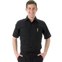 Henry Segal Men's Customizable Black Short Sleeve Dress Shirt - L