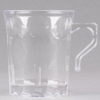 Fineline Flairware Clear 208-CL 8 oz. Plastic Coffee Mug   - 8/Pack