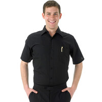 Henry Segal Men's Customizable Black Short Sleeve Dress Shirt - Size 2XL